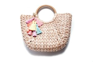 Summer Fave: Hammett is loving woven totes like this one with fringe details.