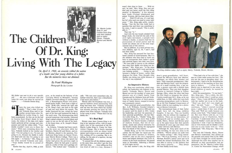 The Children of Dr. King: Living with the Legacy
