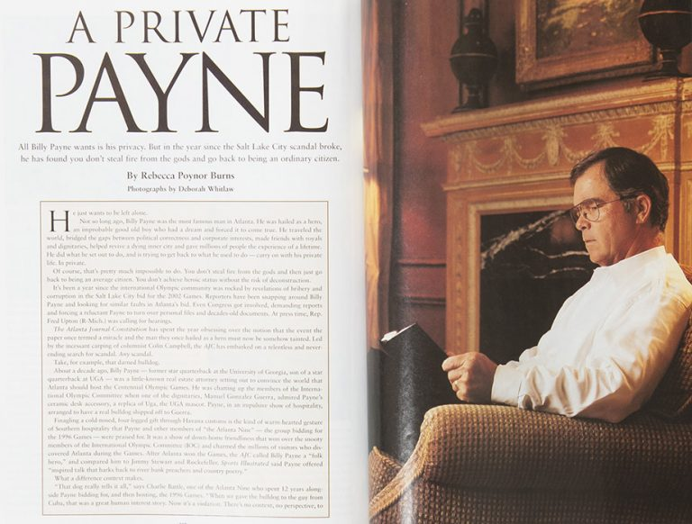 A Private Payne: For Better or Worse, Billy Payne Remains in the Spotlight
