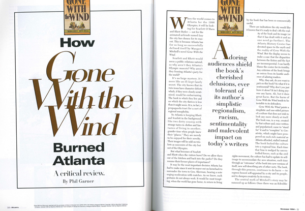 How Gone With The Wind Burned Atlanta Atlanta Magazine