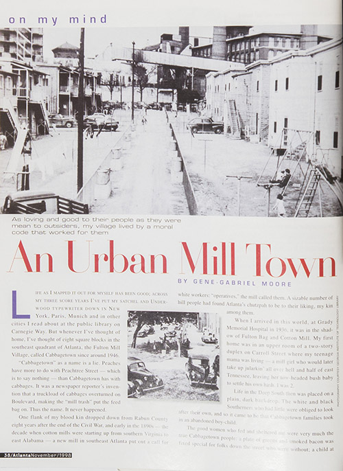An Urban Mill Town: Growing up in Cabbagetown in the 1940s and 1950s