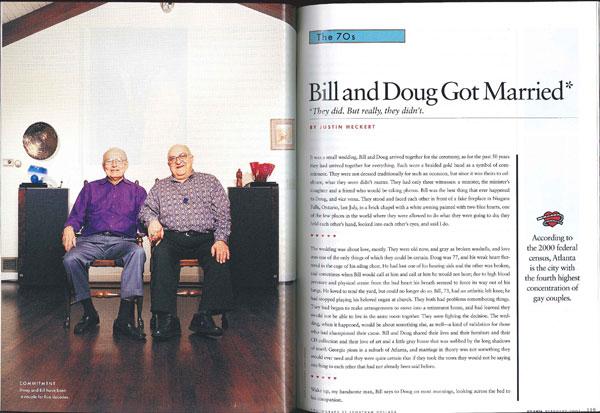 Bill and Doug Got Married*