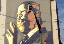John Lewis mural dedication downtown Atlanta 2012