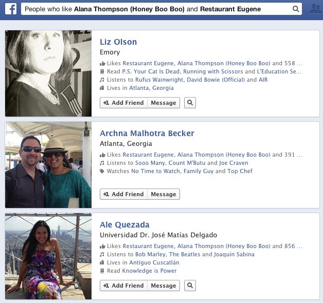 What does Facebook Graph say about Atlanta stereotypes?