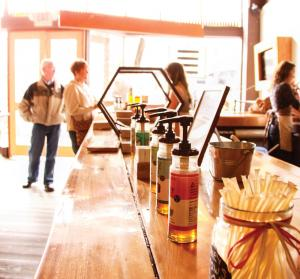 Savannah Bee Company honey tasting bar