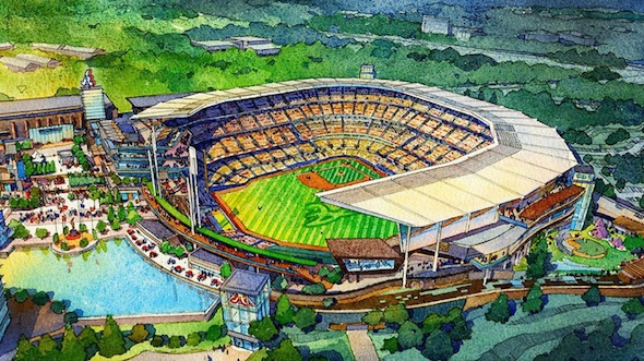 The role of the Cobb Chamber of Commerce in luring the Braves away from Atlanta