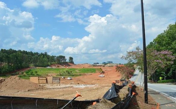 In case you missed it, the new Atlanta Braves stadium site is under construction. See what it looks like right now.
