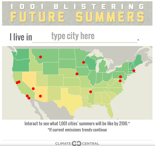 Infographic of the Day: Guess how hot Atlanta will get by 2100?