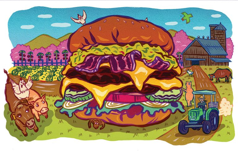 Barn to Bun: How many miles do the ingredients in your burger travel?