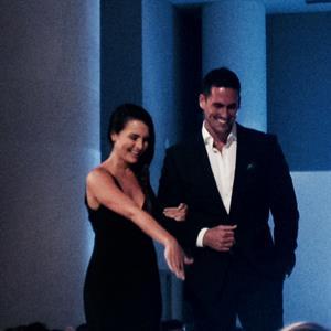 Dorfman and fiance Josh Murray help auction a Cathy Waterman ring.