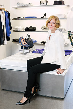Susan Davidson at one of Scoop's NYC locations