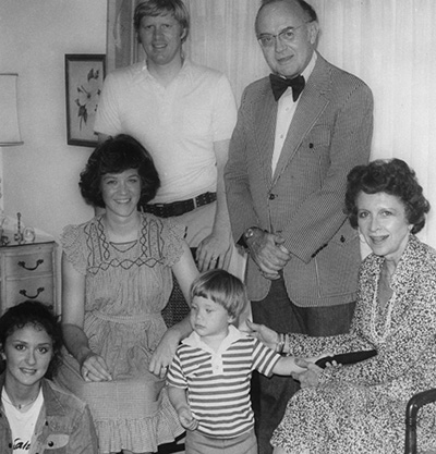 Carter with his grandparents J.B. and Edna Langford, and aunt Lucie (far left) in Calhoun, 1977