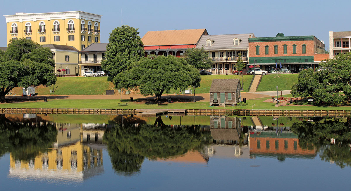 Downtown Natchitoches and Cane River Lake
