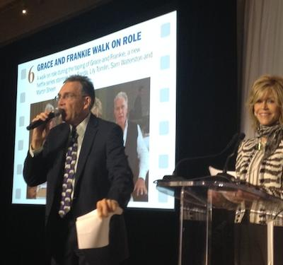 A walk-on role in Jane Fonda's Netflix series was auctioned at the 2014 G-CAPP beneft.