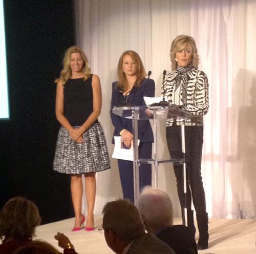 Sara Blakely, Stephanie Blank, and Jane Fonda