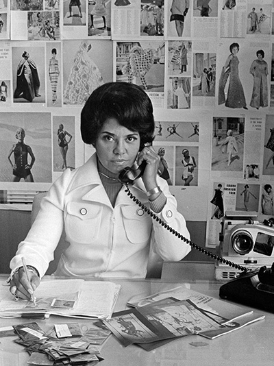Eunice Johnson (here in 1970) would send up to 200 high-fashion looks on tour each season.