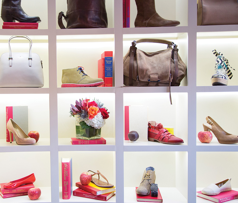 William Wren's sister shops have relocated most of their footwear and bags, now on the salon-style shelving.