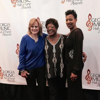 Francine Reed (center) at the 2014 Georgia Music Hall of Fame awards ceremony.
