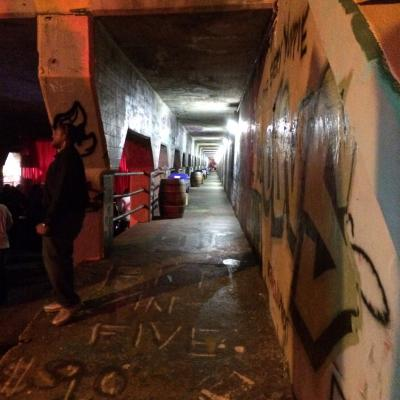 "The pedestrian passage through the tunnel was designated a ""VIP entrance"" during the party; residents were not allowed to walk through."