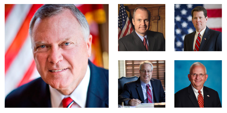 Gov.Nathan Deal, Lt. Gov. Casey Cagle, Secretary of State Brian Kemp, Attorney General Sam Olens, and Agriculture Commissioner Gary Black are running for re-election.