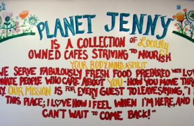 The wall at Souper Jenny Brookhaven
