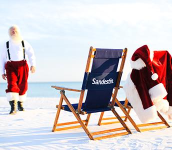 Sandestin Santa on the Beach