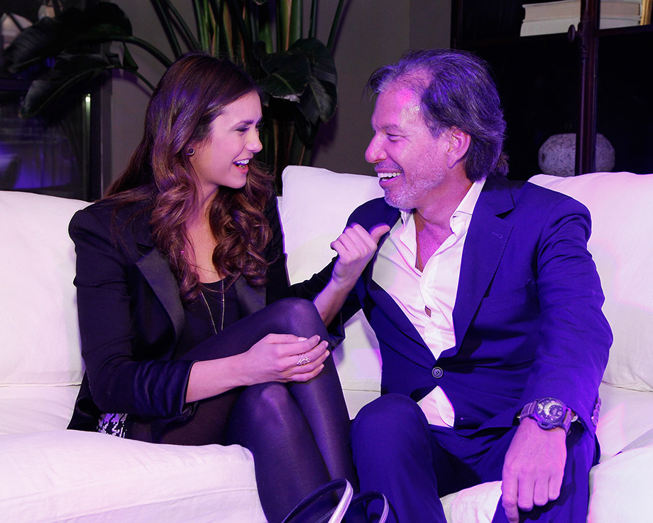 Actress Nina Dobrev and Restoration Hardware CEO Gary Friedman