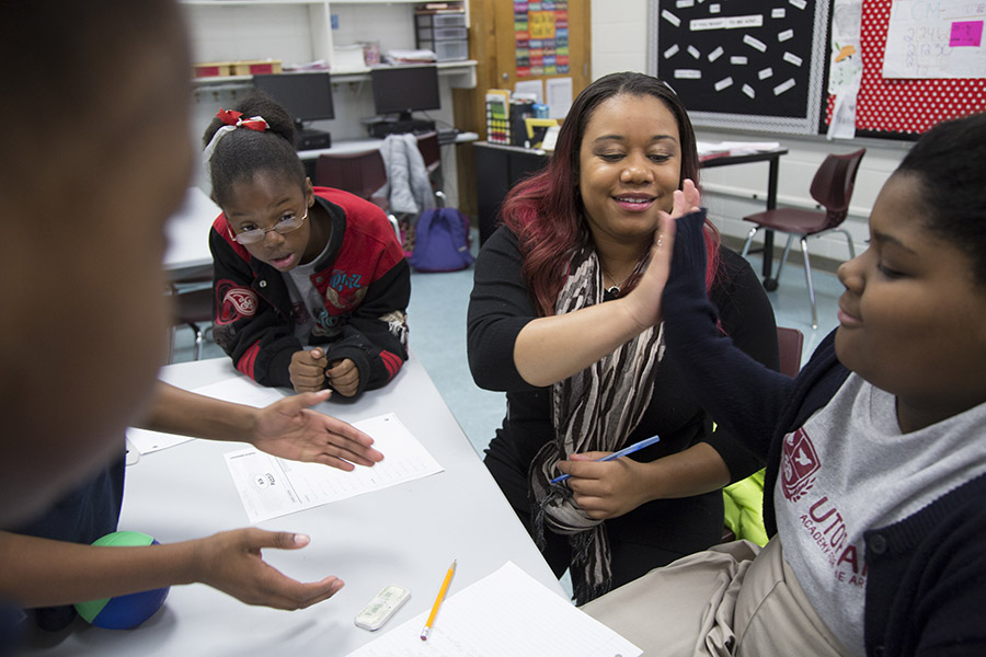 In addition to small classes, students at Utopian attend Saturday school for extra tutoring.