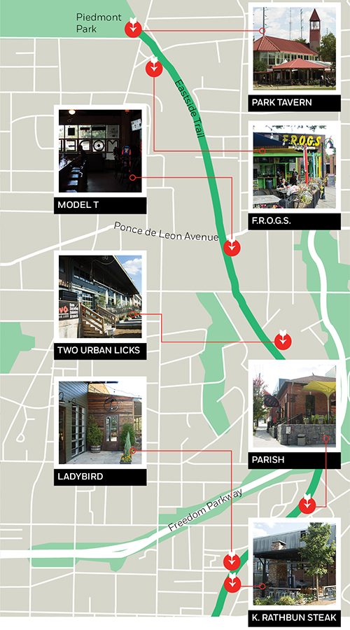 A Bar Stroll Along The Atlanta Beltline Eastside Trail