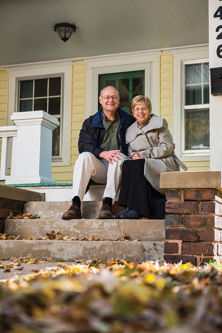The Writebols at the Wichita, Kansas, home of their son, Jeremy