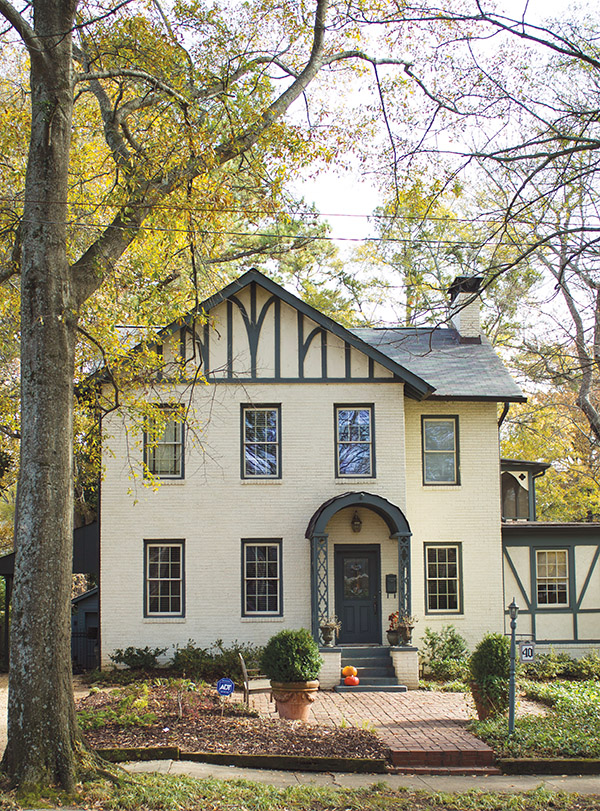 A Tudor-style home within walking distance of downtown