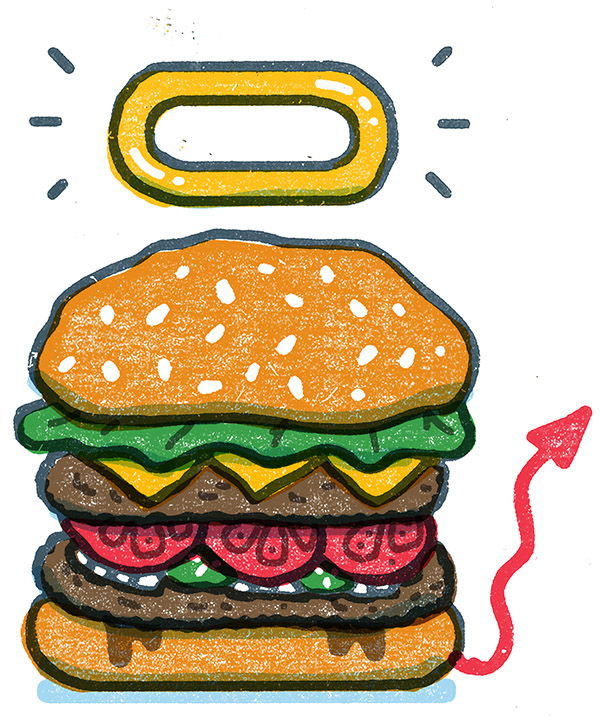 The burger as fetish