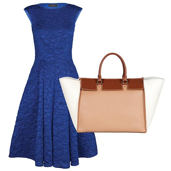 CH dress, $1,215; bag, $780