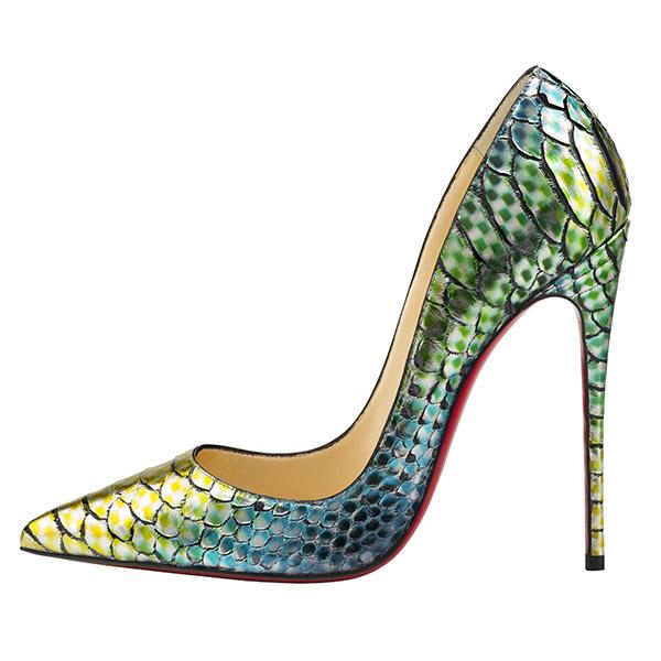 """""""So Kate"""" python heel, $1,495"""