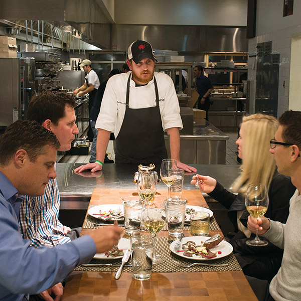 The chef's table at Local Three