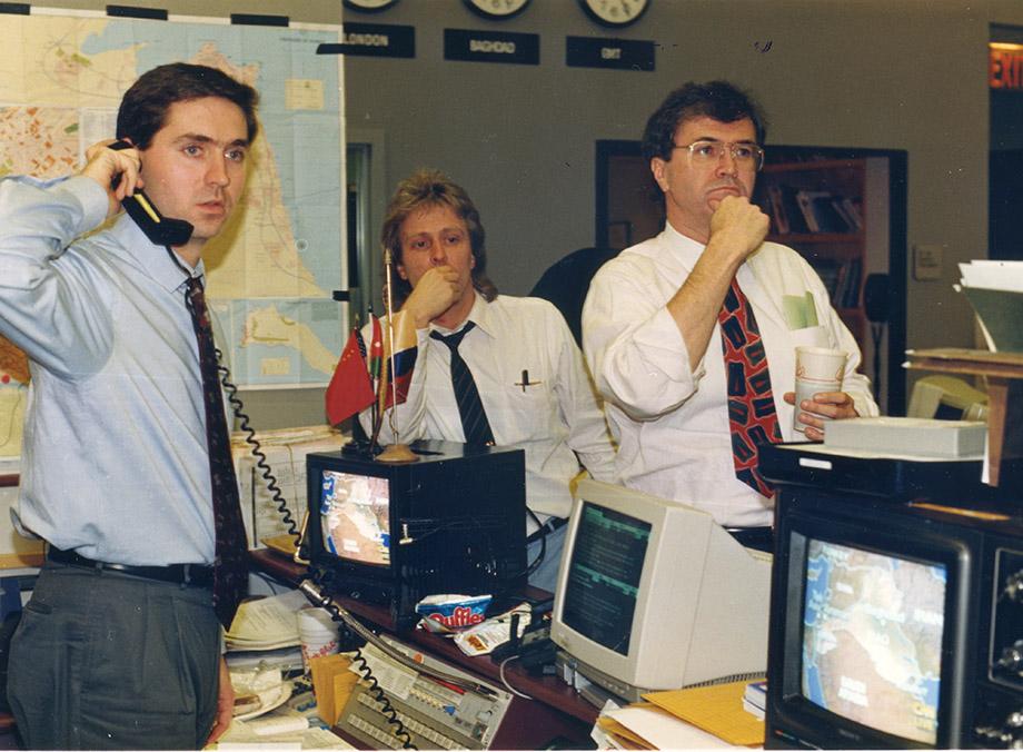 Johnson, right, at CNN during the war.