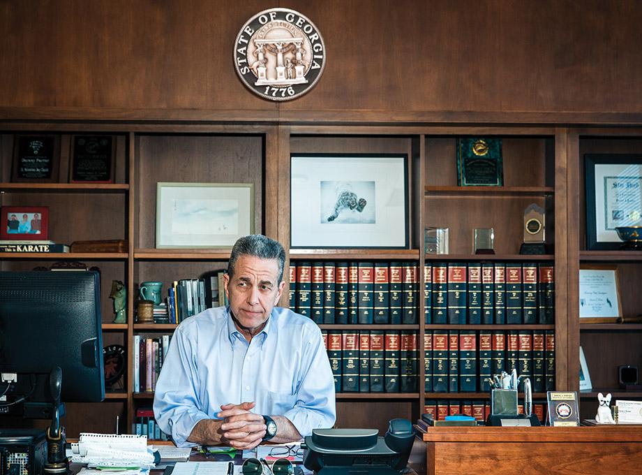 Gwinnett DA Danny Porter in his Lawrenceville office