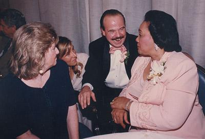 Tom Houck with Coretta Scott King