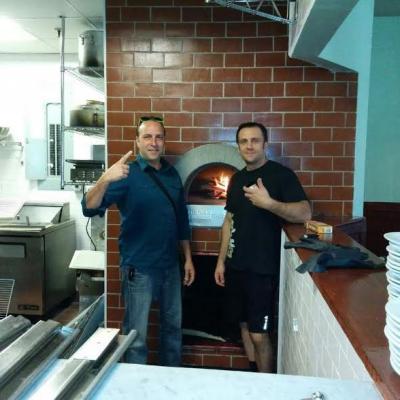 Crispina business partners Rafaelle Crispino and Adriano