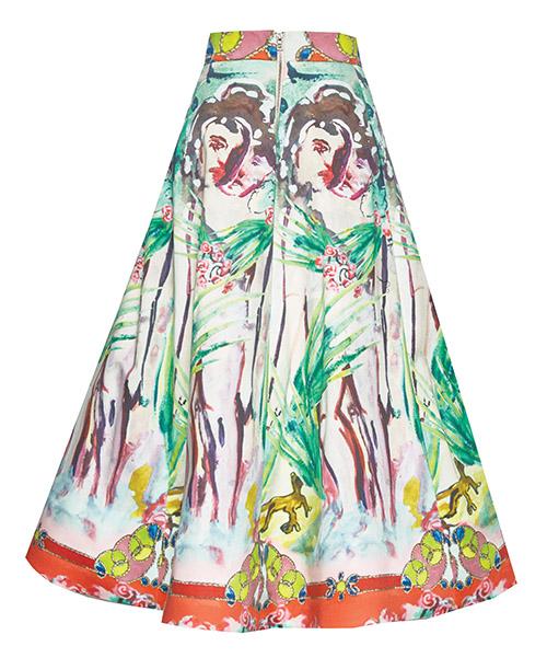 """Left: """"Merritt"""" skirt, $698"""