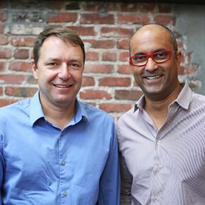 From left: Peter Goettner and Santosh Kayarm