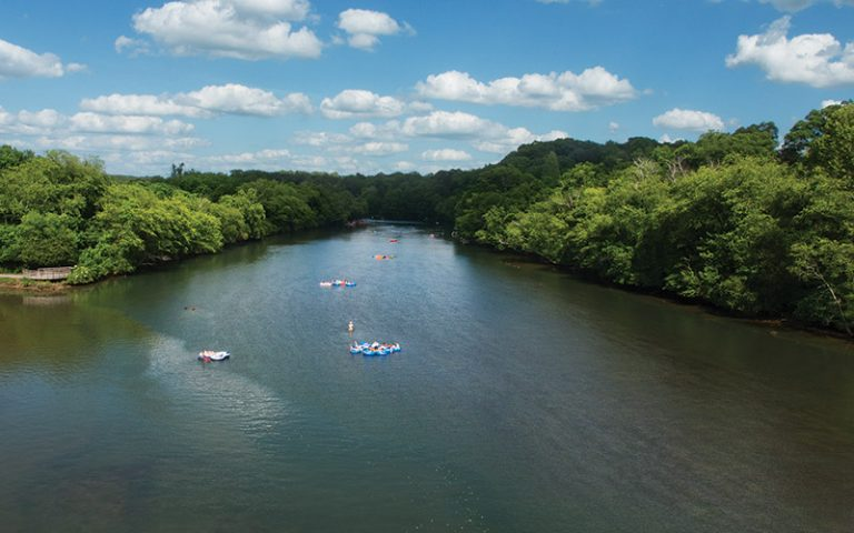 A drone's eye view of the Chattahoochee River