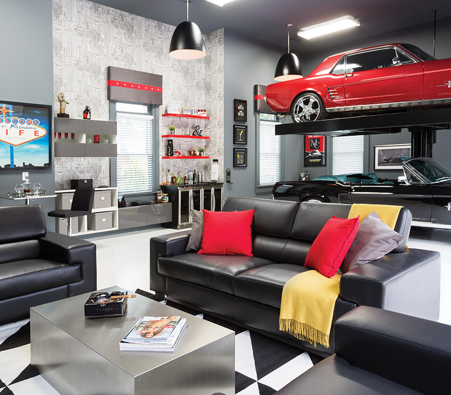 Home Garage Design Ideas: Room Envy: A Briarcliff Garage Becomes An Upscale Man Cave