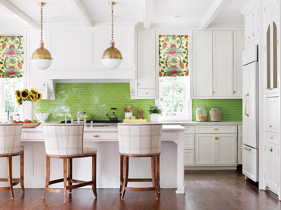 A Playful Color Scheme Cooks Up Preppy Vibe In This Druid Hills