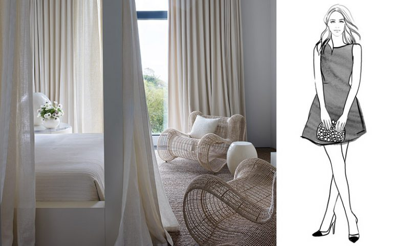 Designing a room is like accessorizing a little black dress