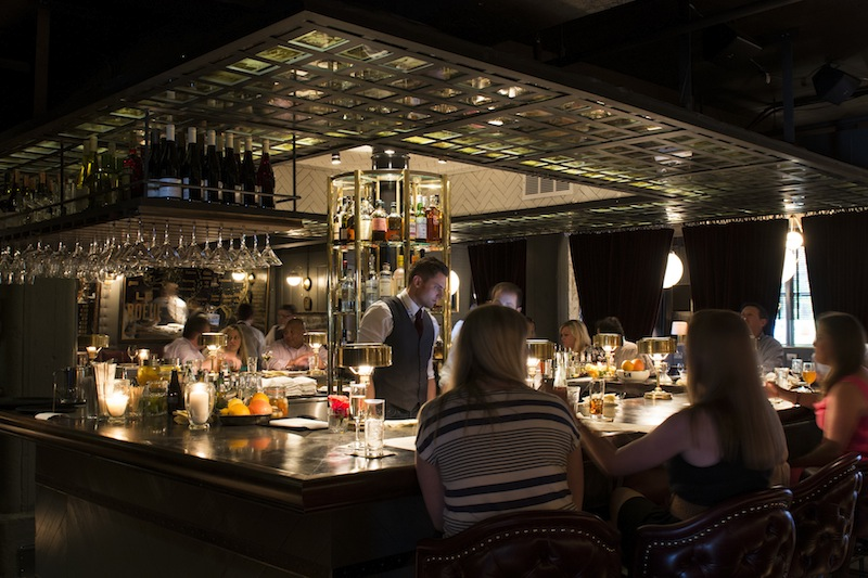 The bar at Marcel