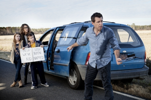 Ashley Gerasinovich, Natalie Zea, Liam Carroll, and Jason Jones in The Detour.