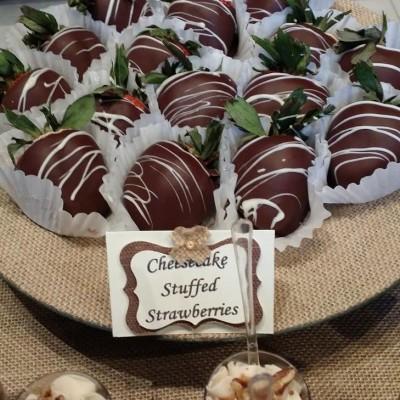 Cheesecake-stuffed strawberries