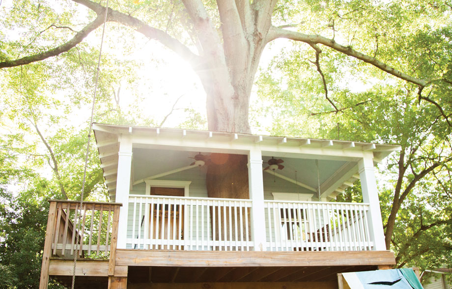 Treehouse tour at Fall Fest in Candler Park