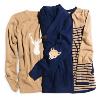 Available at twobeescashmere.com and Jack Rogers stores
